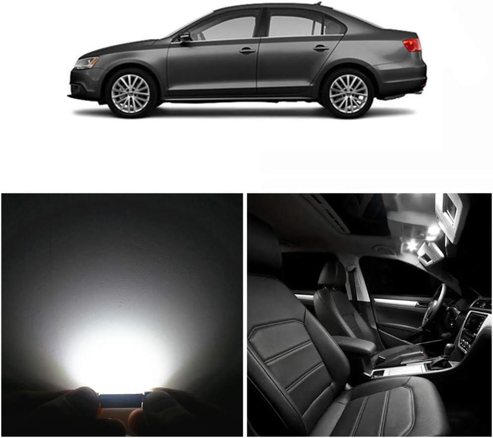 WLJH 9 piezas Canbus T10 W5W C5W luz LED interior Kit de iluminaci/ón para Jetta VI MK6 Sedan 2011-2018