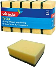 Vileda Tip Top Dish Washing Medium Foam Sponge Scourer - 5 Pieces