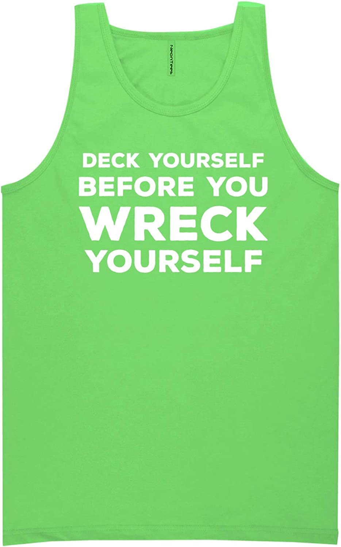 zerogravitee Deck Yourself Before You Wreck Neon Green Tank Top - XX-Large