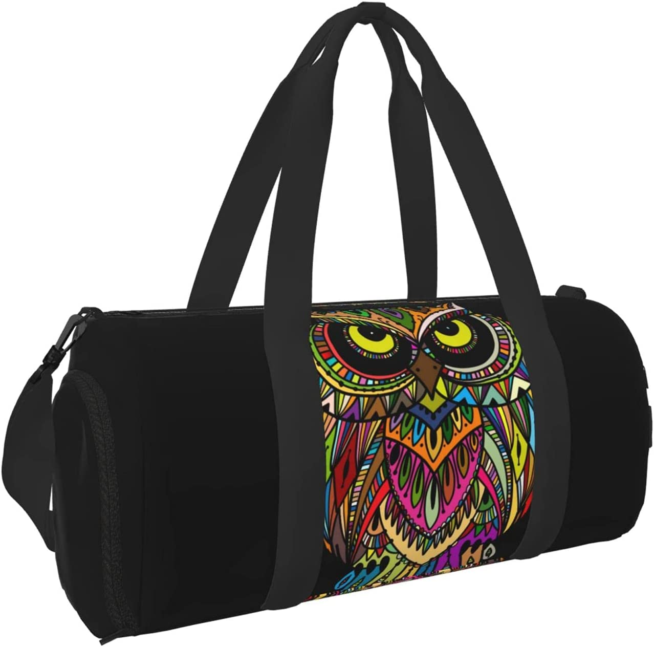 Timeergy Hand Drawn Gorgeous Free Shipping New Ornate Owl Gym Bags Duffel Bag Carry Travel