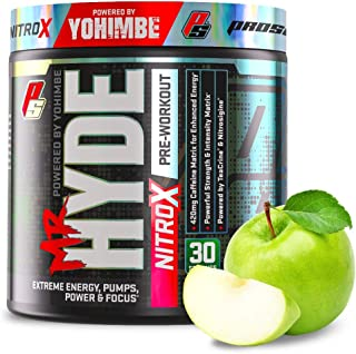 ProSupps® Mr. Hyde® NitroX Pre-Workout Powder Energy Drink - Intense Sustained Energy, Pumps & Focus with Beta Alanine, Cr...