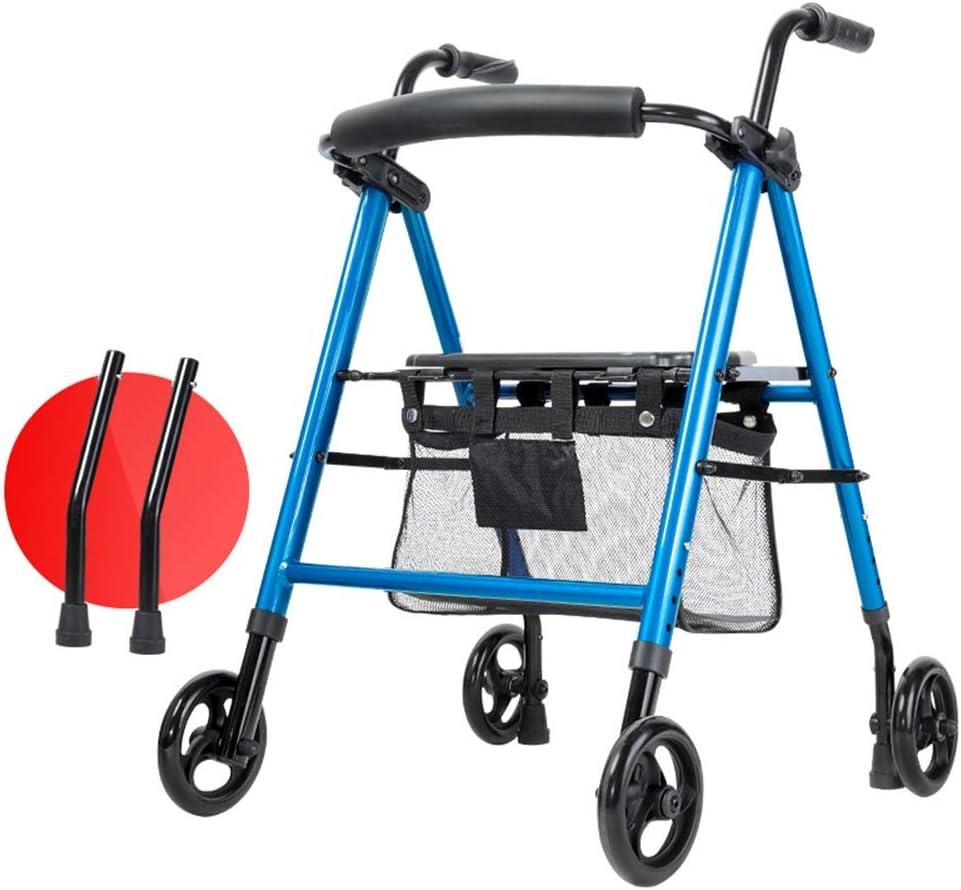 Washington Mall XHRHao Adjustable Max 65% OFF Walking Frame Folding Walker with Aid Backrest