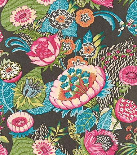 rasch Tapete 803631 aus der Kollektion Lucy in the Sky – Vliestapete mit buntem, fantasievollem Blumen-Muster – 10,05m x 53cm (L x B)