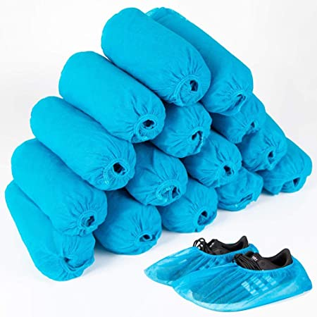 100//200PC Disposable Multipurpose Plastic Waterproof Shoes Rain Boot Covers Anti-Slip Hygienic Shoes Cover for Workplace,Indoor Carpet Floor Protection,Daily Cleaning Supplies A 100PC