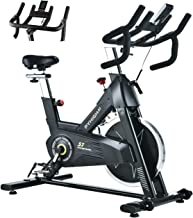Best PYHIGHIndoor Cycling Bike-48lbs Flywheel Belt Drive Stationary Bicycle ExerciseBikes with LCD Monitor for Home Cardio Workout BikeTraining- Black (Black) Review