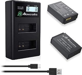 comprar comparacion Powerextra 2 x Baterías de Reempalzo para Canon LP-E12 con Cargador Doble para Canon LP E12 y Canon EOS M EOS M50 EOS M100...