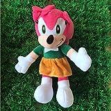 JIAL Peluches Peluches de Sonic muñeca de la Felpa Juguetes Sombra Sonic Amy Rose Nudillos de Colas Mimosa de Juguetes de Peluche de Juguete Suave 28 Cm Chongxiang