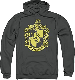 Harry Potter Hufflepuff Crest Unisex Adult Pull-Over Hoodie for Men and Women