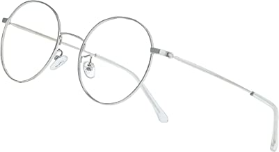 Cyxus Blue Light Glasses Men/Women, Retro Round Wire Frame Eyeglasses, Computer Gaming Eyewear