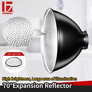 JINBEI 70 Degree 13Inch Expansion Reflector Lamp Cover Dish Diffuser for Bowens Mount Studio Strobe Flash Light Portrait Photo