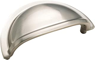 Amerock BP55365GPH Advantage Bp4235G9 Cup Eclectic Cabinet Pull, 1-1/4 in Projection, 3-1/4 in L X 1-3/4 in W, 3-1/4-Inch, Sterling Nickel