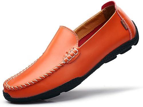 Les hommes les chaussures en cuir,Orange,quarante - deux