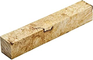 Stabilized Box Elder Burl Pen Blank, Clear