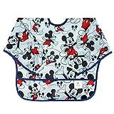 Bumkins Disney Mickey Mouse Sleeved Bib / Baby Bib / Toddler Bib / Smock, Waterproof, Washable,...