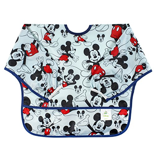 Bumkins Disney Mickey Mouse Sleeved Bib / Baby Bib / Toddler Bib / Smock Waterproof Washable Stain and Odor Resistant 624 Months    Classic