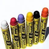 Markal B Paintstik Solid Paint Hobo Marker Set of 6 Vibrant Colors