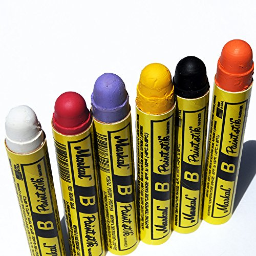 Markal B Paintstik Solid Paint Hobo Marker Set of 6 Vibrant Colors