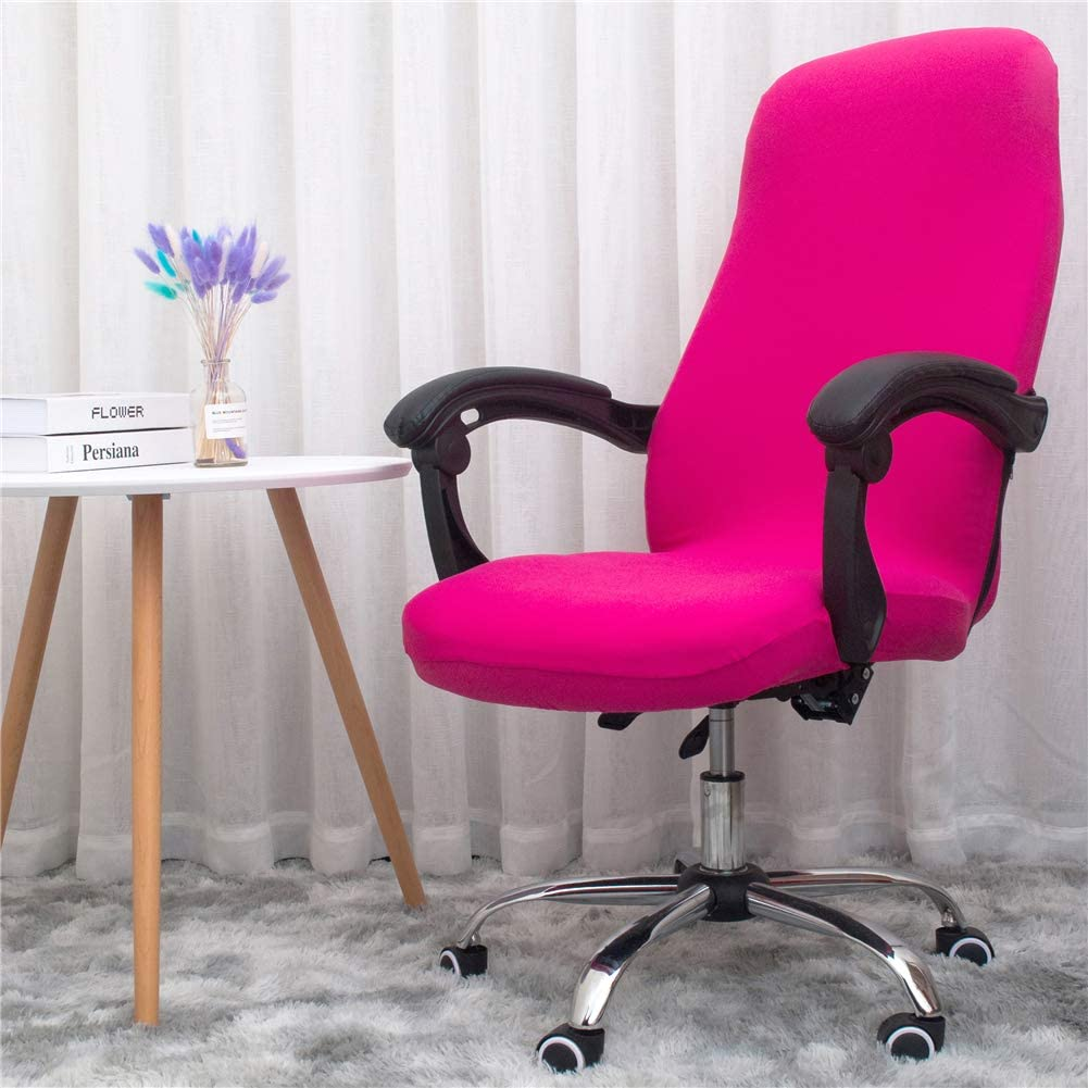 Jinzio Office Chair Covers Stretch Washable Computer Chair Slipcovers for Universal Rotating Boss Chair Large Size ONLY Chair Covers Pure Purple