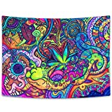 NYMB Psychedelic Snail Tapestry by KMish213 Trippy Tapeatries Wall Hanging Abstract Unusual Figure Psychedelic Tapestries Wall Art, Color and Form Hippie Arabesque Intricate Wall Decor for Bedroom