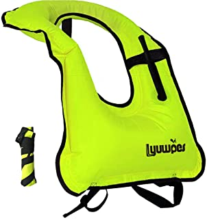 Lyuwpes Inflatable Snorkel Vest Adult Snorkeling Jackets Vests Free Diving Swimming..
