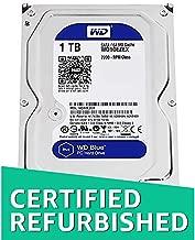 WD Blue 1TB SATA 6 Gb/s 7200 RPM 64MB Cache 3.5 Inch Desktop Hard Drive WD10EZEX (Renewed)