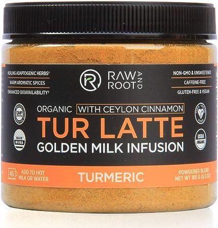 TUR Latte - USDA Organic Certified Golden Milk Powder with Ceylon Cinnamon