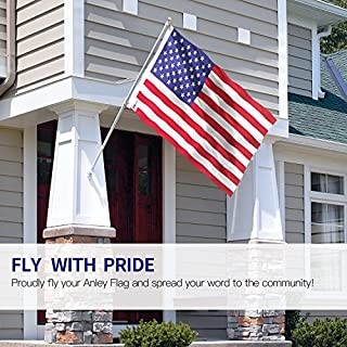 Anley Fly Breeze 3x5 Foot American US Flag - Vivid Color and UV Fade Resistant - Canvas Header and Double Stitched - USA Flags Polyester with Brass Grommets 3 X 5 Ft للبيع