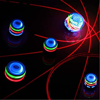SIStoy Spinning Top Toy with LED and Music Colorful Top for Kids' Gift