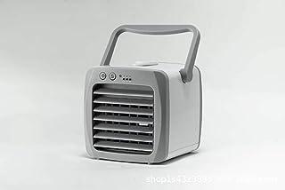 AOSNTEK USB mini portátil de aire acondicionado de escritorio de iones negativos de aire acondicionado ventilador de refrigeración, Gris Plus Blanco, 18*17*17cm