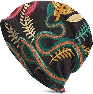 Beach Watercolor Classic Unisex Winter Warm Knitting Hats Beanie Hats Skull Cap Black