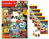 Blue Ocean Lego Ninjago Serie 5 Next Level -1x Starter + 5 Booster Tüten Trading Cards zusätzlich erhalten Sie 1 x Fruchtmix Sticker-und-co Bonbon