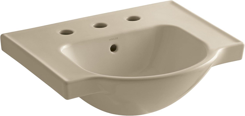 Kohler 5247-8-33 Veer Widespread Sink Basin, 21-Inch, Mexican Sand