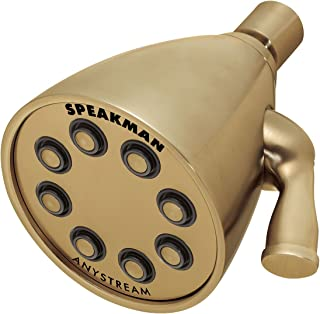 Speakman S-2251-BBZ Signature Icon Anystream High Pressure Adjustable Solid Brass Shower Head, Brushed Bronze