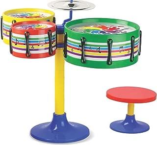 TOYZTREND Musical Instruments Original Jazz Drum Set for Kids, Multi Color (Assorted Colours & Designs)