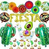 caicainiu Fiesta Fiesta Decoraciones Mexican Tema Fiesta decoración Suministros Globos Cactus Globos Llama Globos Fiesta Fiesta Suministros Boda cumpleaños bebé Ducha