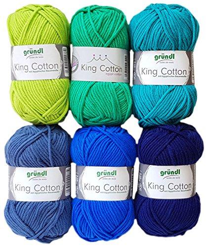 King Cotton Set (6x50 Gr. Blau Mix)