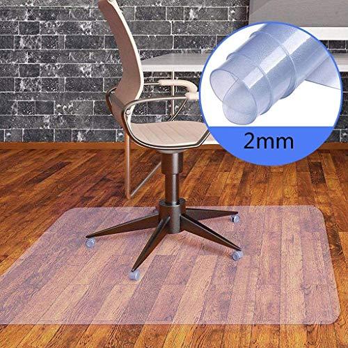 PVC Doorzichtige plastic bureaustoel mat hardhouten vloeren beschermende beschermer voor stoel bureau thuiskantoor