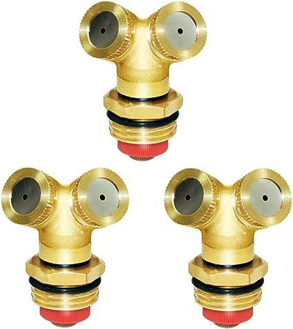 Copper Spray Misting Hose Nozzle 3 Holes Sprinklers Garden Plant Irrigation Tool