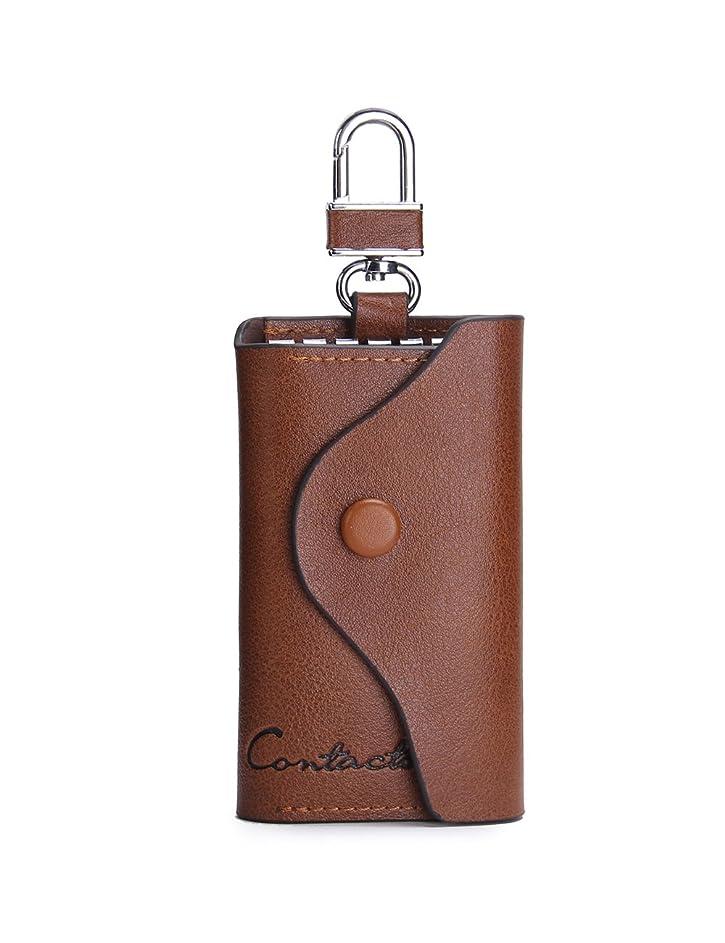 バケツ郵便物戦略[コンタクトズ] メンズ本革自動車のキーバッグ財布キーケース キーホルダー チェーン