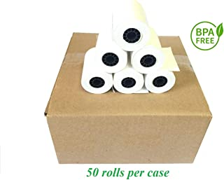 BAM POS, 2-1/4 x 50' 1-Ply Thermal Paper 50 Rolls for The Ingenico ICT 200/220/250 / Verifone VX 520 / Hypercom/Nurit