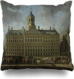 ArtVerse Matthew Henry 16 x 16 Outdoor Cushions UV Properties Waterproof and Mildew Proof Pug in Blanket Pillow