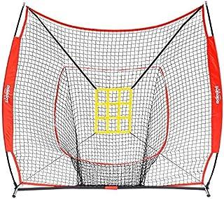Sponsored Ad - Zupapa 7 by 7 Feet Baseball Softball Hitting Pitching Net with Strike Zone, Baseball Backstop Practice Net ...