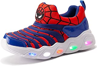 Kids Light Up Shoes Led Flash Sneakers with Spider Upper...