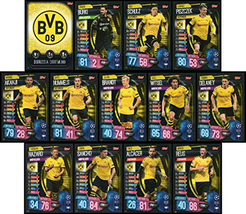 MATCH ATTAX 19/20 Borussia Dortmund Full 13 Card Team Set - UK Edition