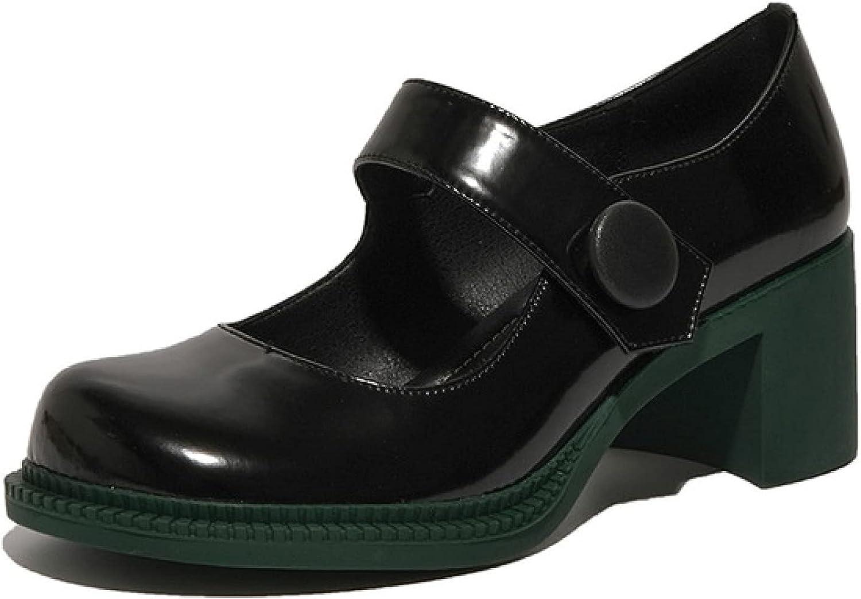 RHOMEIE Attention brand Women's Daily Wear Mary Jane High Platform Max 86% OFF Heel Block Pu