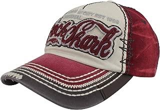 Rock Shark Distressed Vintage Cotton Embroidered Baseball Cap Snapback Hat