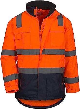 NITRAS Motion TEX VIZ - Manteau de Securite - Veste Haute Visibilité - Parka de Travail Réfléchissant
