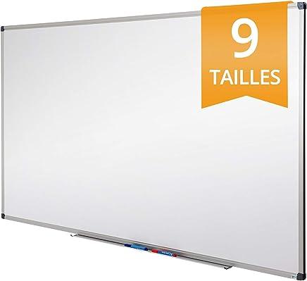 Tableau Blanc Office Marshal® | Tableau Magnétique Élu Meilleur Rapport Qualité/Prix | Tableau Effaçable Aimanté | Série PRO, 60x90cm