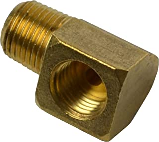 (E-10-8) Inline Tube 90 Degree Brass Elbow with Male 1/8