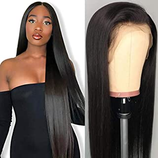 Lace Front Wigs Human Hair for Black Women 150% Density 9A Brazilian 13×4 Viennois Stright Human Hair Lace Front Wigs Pre ...